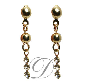 Dangle Earrings with Rhinestone Accents