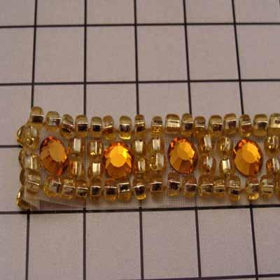 Beaded Trim with Rhinestone Accents