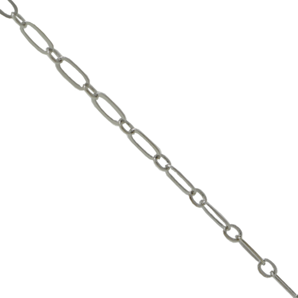 Figaro Chain Imitation Rhodium