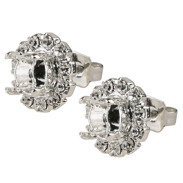 02d78f388 Empty Stud Earrings with Crystal Rhinestones for ss29 1088 Chaton    Dreamtime Creations