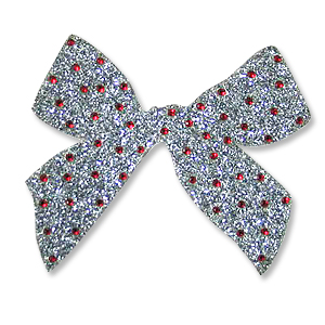 Christmas Bow Iron On Applique (Transfer)