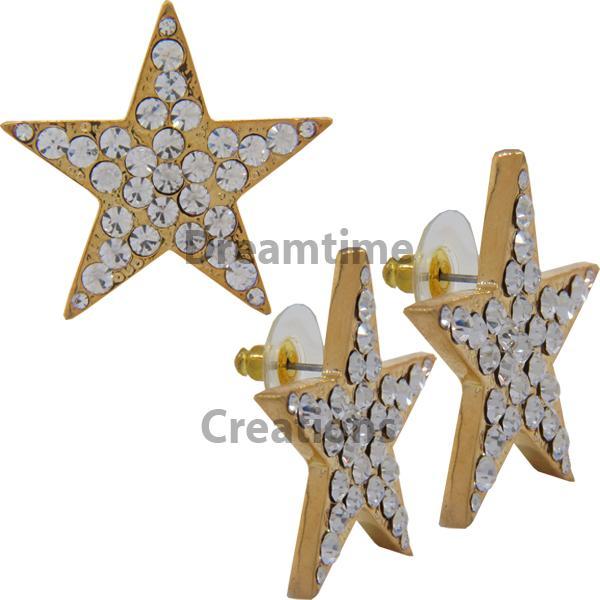 Rhinestone Star Earrings