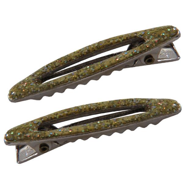 Jelly Clip Hair Pins - Green