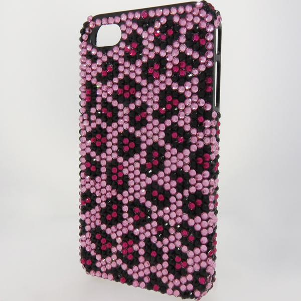 Bling iPhone Case for iPhone 4 Pink Animal Print