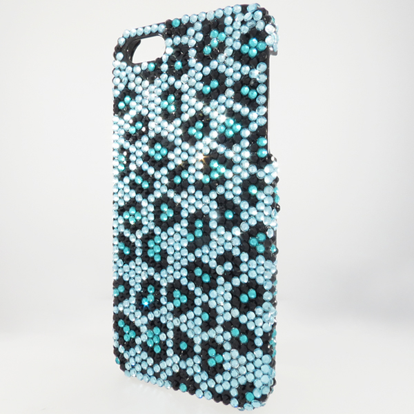 Bling iPhone Case for iPhone 5 Teal Animal Print
