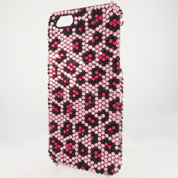 Bling iPhone Case for iPhone 5 Pink Animal Print