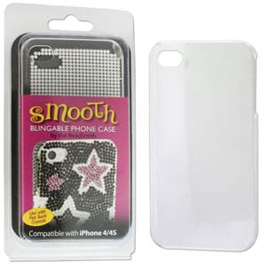 Phone Case for iPhone 4/4S Clear for use with Flat Backs