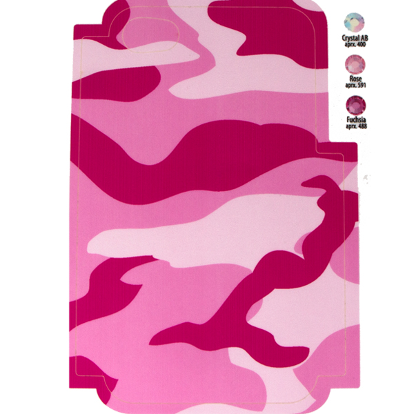 Pink Camo Template for Phone Case for iPhone 4/4S for use with Flat Backs