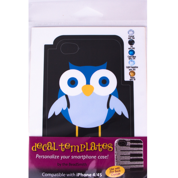 Owl Template for Phone Case for iPhone 4/4S for use with Flat Backs