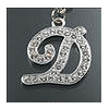 "Rhinestone Initial Key Chain ""D"""
