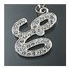 """Rhinestone Initial Key Chain """"E"""""""