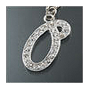 "Rhinestone Initial Key Chain ""O"""