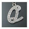 "Rhinestone Initial Key Chain ""Q"""