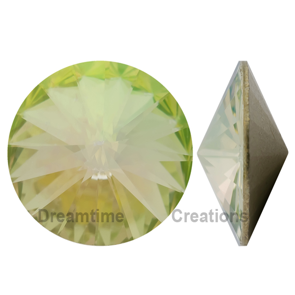0b4667ac6 Swarovski 1122 Rivoli Round Stone Crystal Luminous Green SS47 | Dreamtime  Creations