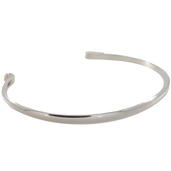 Band for Inter-Changeable Size Large, Silver Overlay