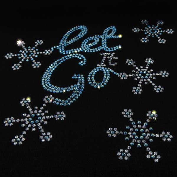 Let it Go Full Design Iron On Spark Hotfix Transfer