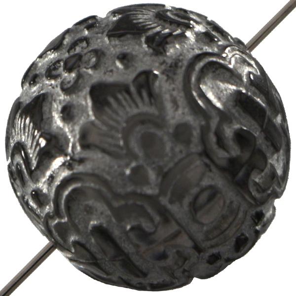 Mediterranean Bead Round 20 mm Silver Grey