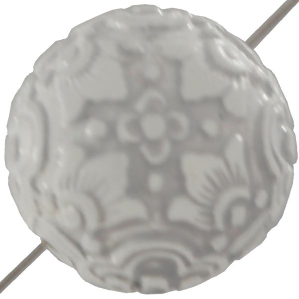 Mediterranean Bead Round 20 mm White Crystal