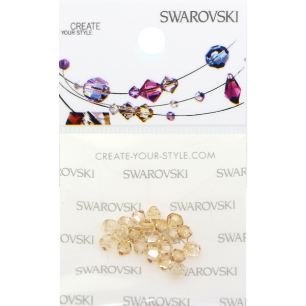 6feef0fe8 Retail Ready Package of Swarovski 5328 Bicone Beads 04mm Crystal Golden  Shadow 19 pcs | Dreamtime Creations