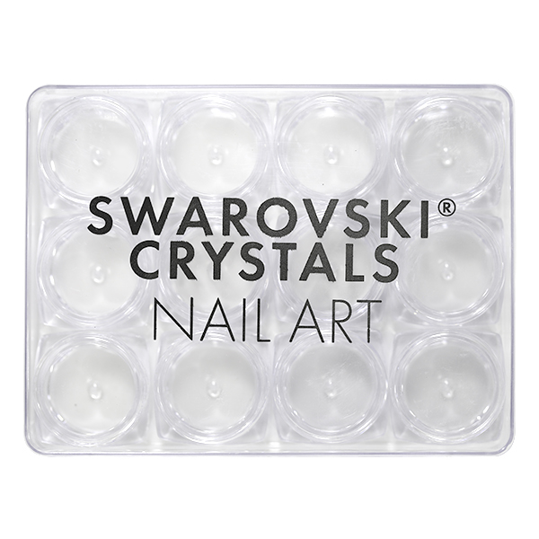 Swarovski Crystals Nail Art Storage Box With 12 Jars