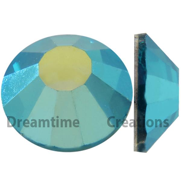 Preciosa VIVA12 Rhinestones Flatback MC Chaton Rose 30ss Blue Zircon AB