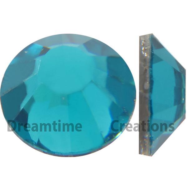 Preciosa VIVA12 Rhinestones Flatback MC Chaton Rose 10ss Blue Zircon