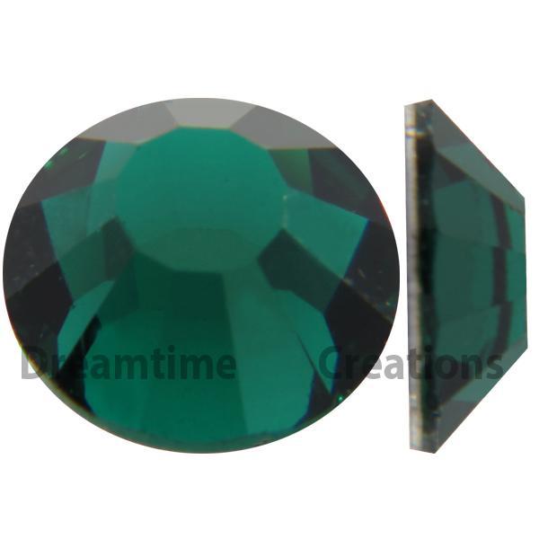 Preciosa VIVA12 Rhinestones Flatback MC Chaton Rose 10ss Emerald