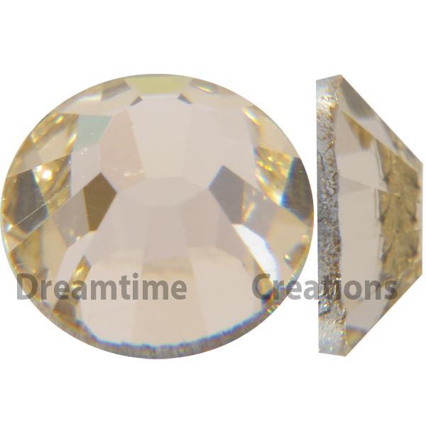 Preciosa VIVA12 Rhinestones Flatback MC Chaton Rose 10ss Gold Quartz