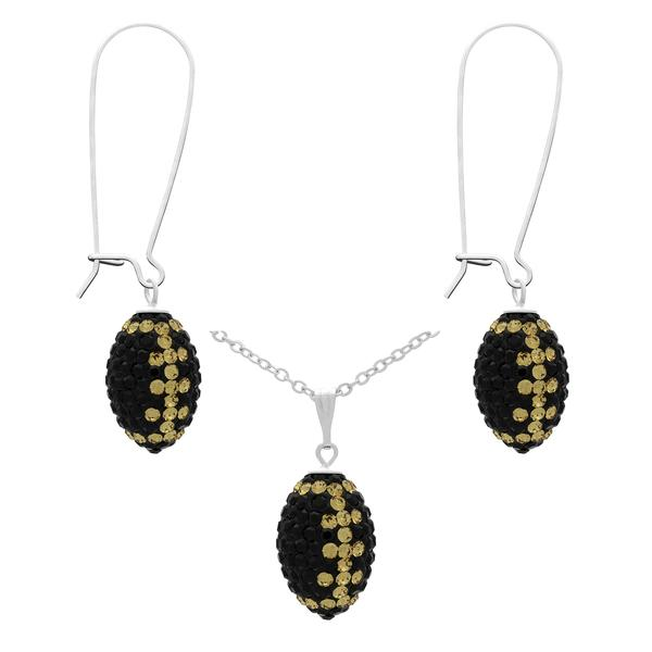 Bling Soccer Ball ring and earrings set