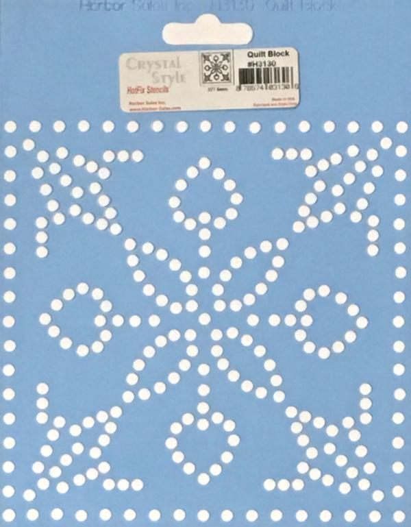Crystal Style Quilt Block Stencil