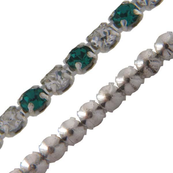 Crystal/Emerald Alternating 1 row