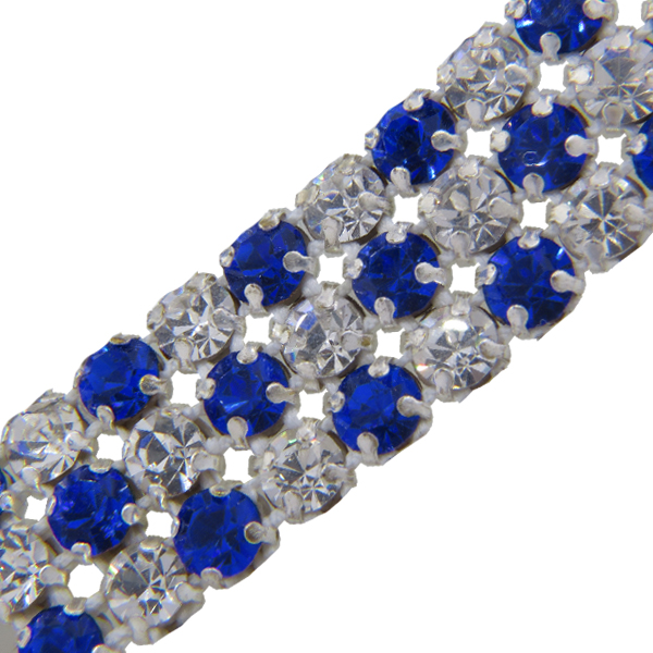 Metal Set Rhinestone Banding 3 Row