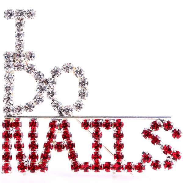 I Do Nails (Crystal/Light Siam/Silver) Rhinestone Pin