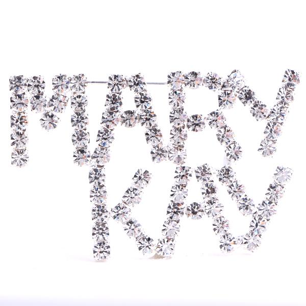 MARY KAY (Crystal/Silver) Rhinestone Pin