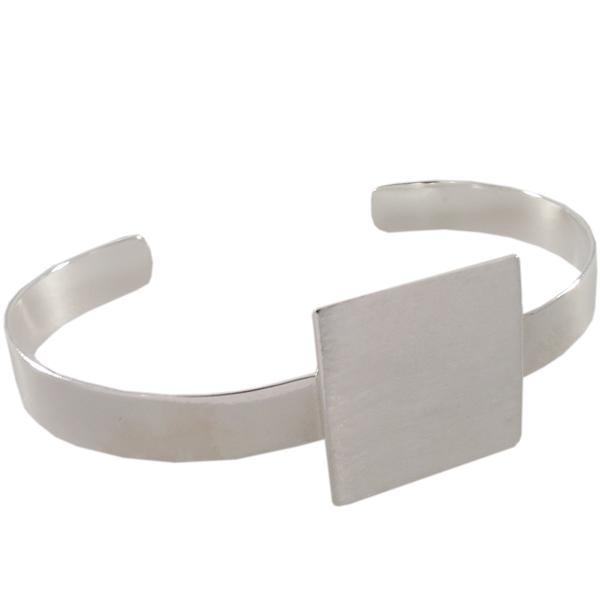 Flat Cuff Bracelet, Square