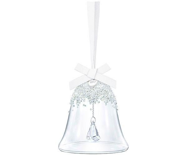 Swarovski Collection Crystal Christmas Bell Ornament Set with Crystal Rocks