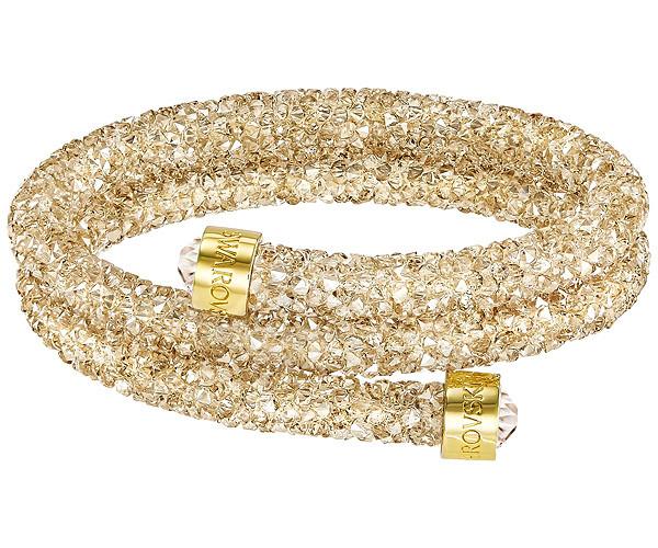 Swarovski Collection Golden Toned Crystaldust Bangle  e84b627b9c