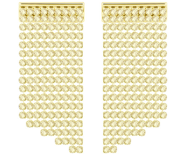 Swarovski Collection Gold Plated Golden Crystal Mesh Earrings