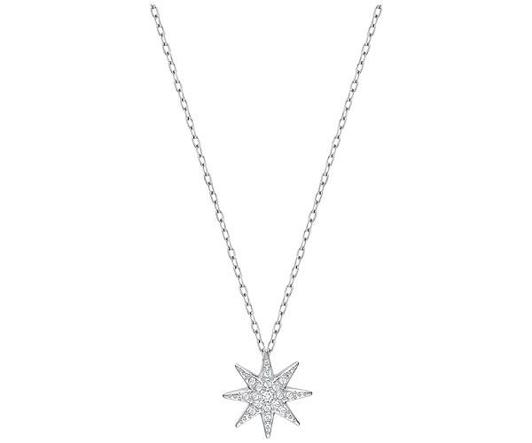 Swarovski Collection Rhodium Plated Star Pendant