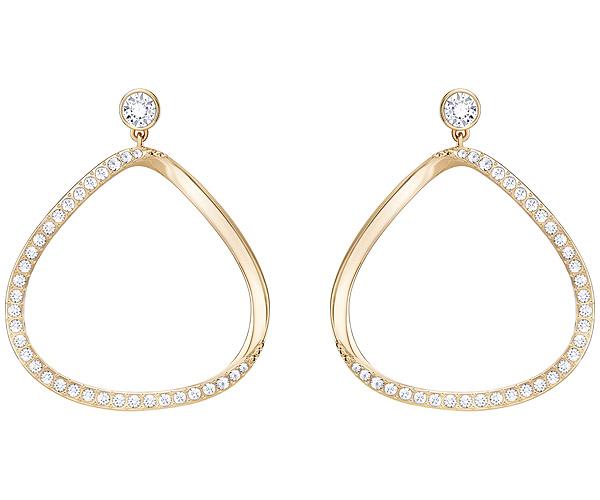 Swarovski Collection Rose Gold Crystal Stud Hoop Earrings