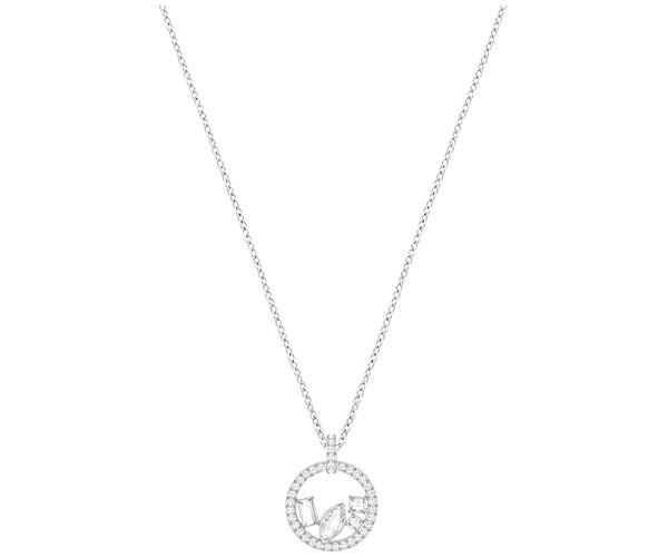 Swarovski Collection Rhodium Plated Inspired by Ice Crystal Pendant