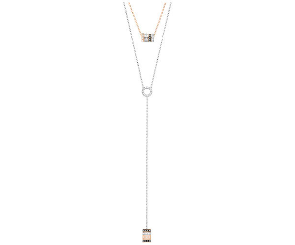 Swarovski Collection Mix of Dark and Clear Pavé Necklaces
