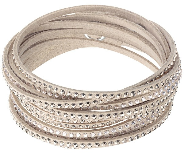 Swarovski Collection Slake with Mix of Crystal on Nude Alcantara© Bracelet   87b3f5b7e4