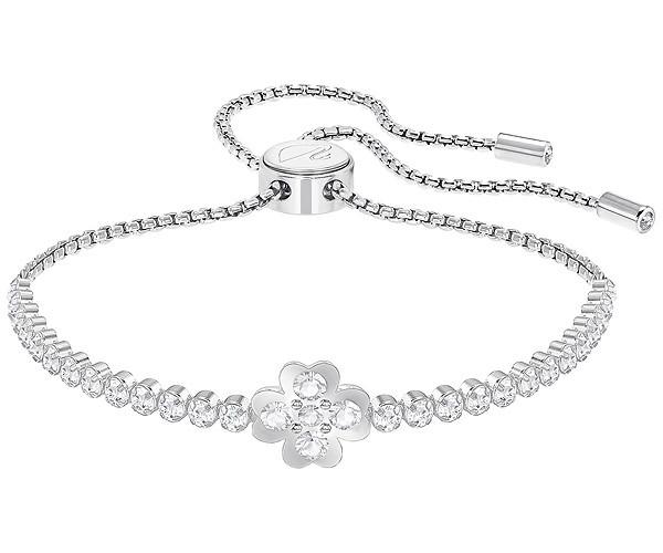 99416f44d84279 Swarovski Collection Rhodium Plated Lucky Four Leaf Clover Bracelet ...