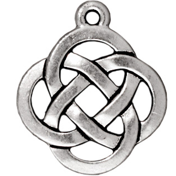 TIERRACAST® Antique Silver Open Round Charm