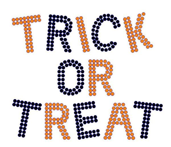 Iron On Transfer TRICK OR TREAT