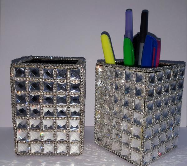 Blinged Pencil or Brush Holder