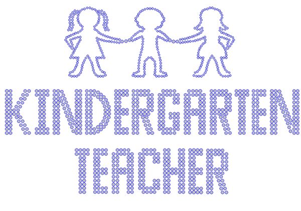 Iron On Transfer - KINDERGARTEN TEACHER