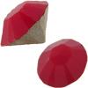 Swarovski 1028 XILION Chaton Dark Red Coral PP9