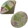 Swarovski 1028 Round Rhinestones, Chatons ss29 Luminous Green